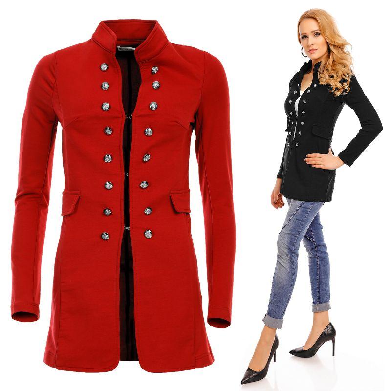 9538 Details J Mantel Zu Damen Blazer Admiral Military Uniform Jacke Knopfleiste Style ZuiOkPX