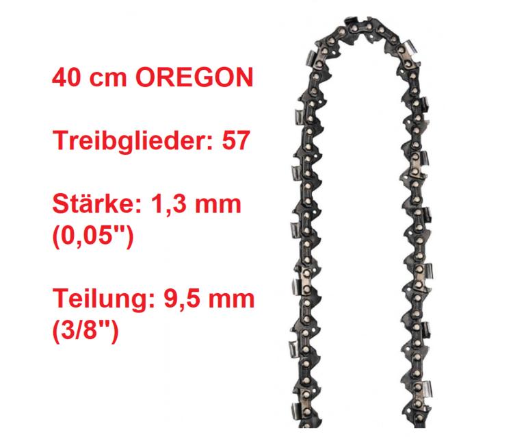 """Schwert passend für Einhell BG-EC 2040 40 cm 3//8/"""" 57TG 1,3mm Führungsschiene bar"""