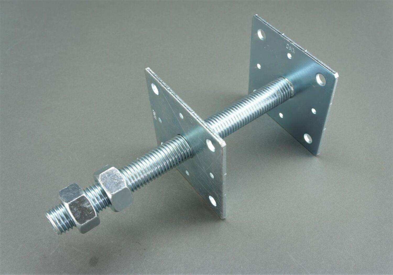 Aufschraubhülse Pfostenträger  Pfostenständer Pfostenstütze 91 mm feuerverzinkt