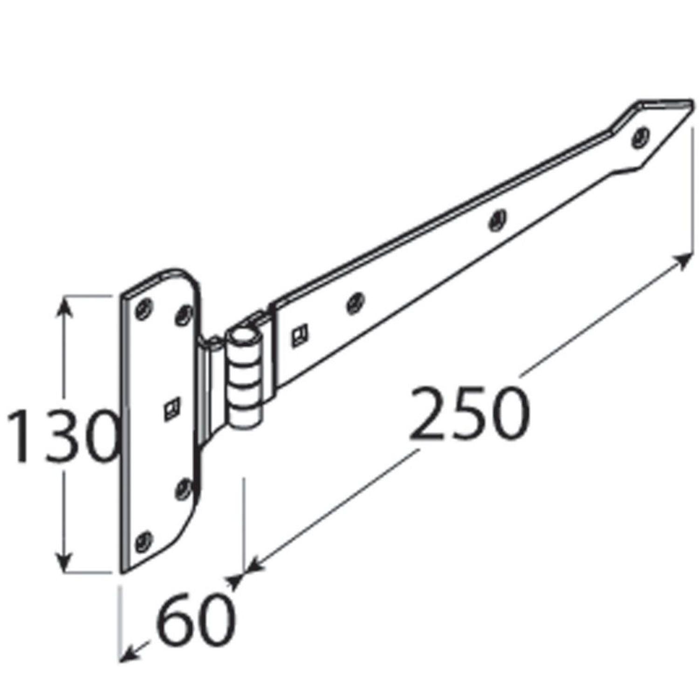 Torband deko 200 mm schwarz T Band Kreuzgehänge Scharnier Möbelbänder Kreuzband