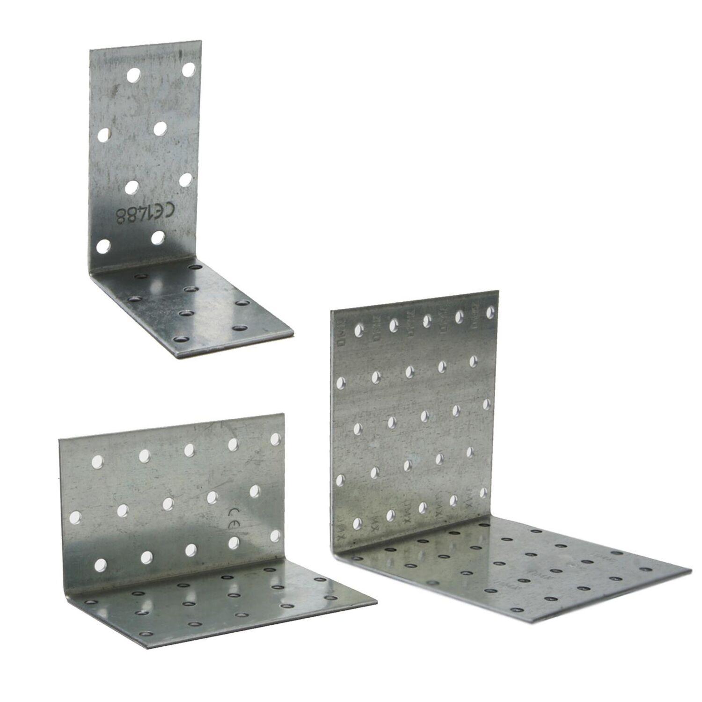 Lochplattenwinkel 40-200 mm Winkelverbinder Lochplatten Winkel Lochblech 20 cm