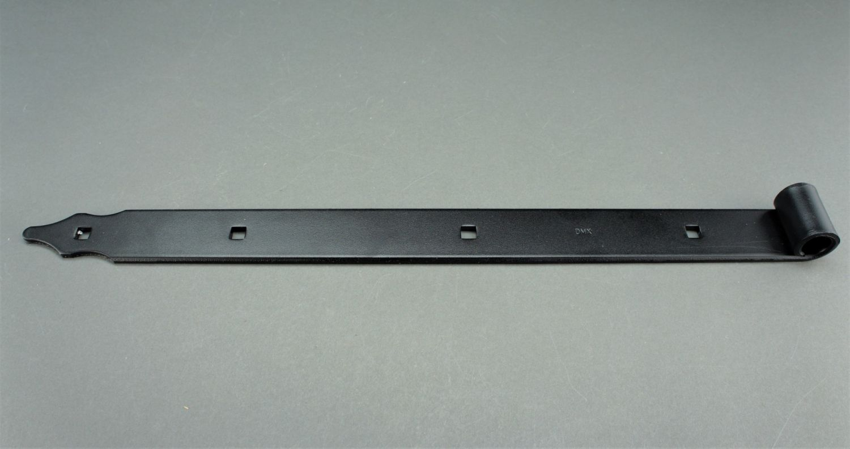 Ladenband mit Kloben 600 x 40 x 5 mm Ø16mm Torband T-Band Scharnier Tor schwarz
