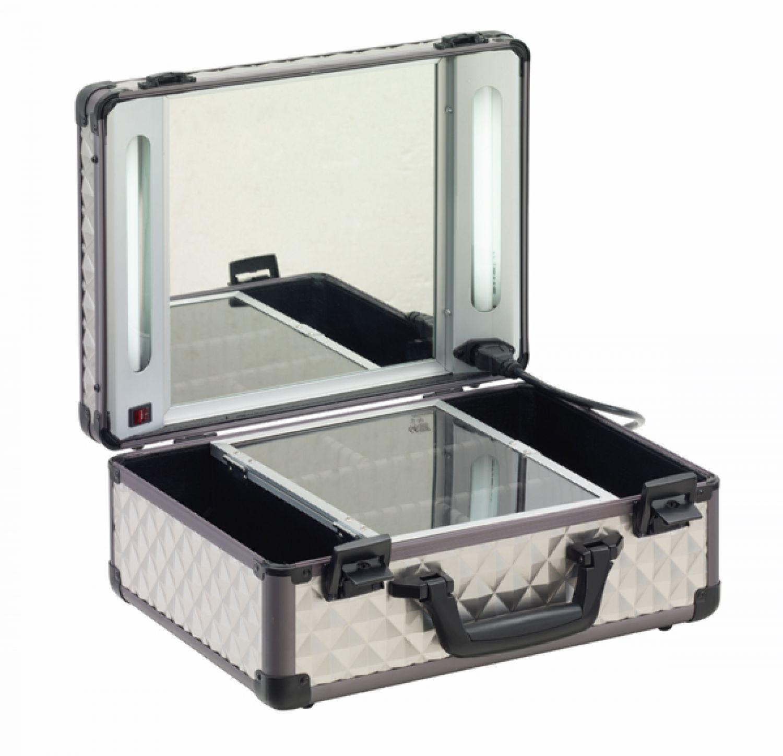 visagistenkoffer beleuchtung kosmetikkoffer 38x28x16 schminktisch sortierkoffer ebay. Black Bedroom Furniture Sets. Home Design Ideas