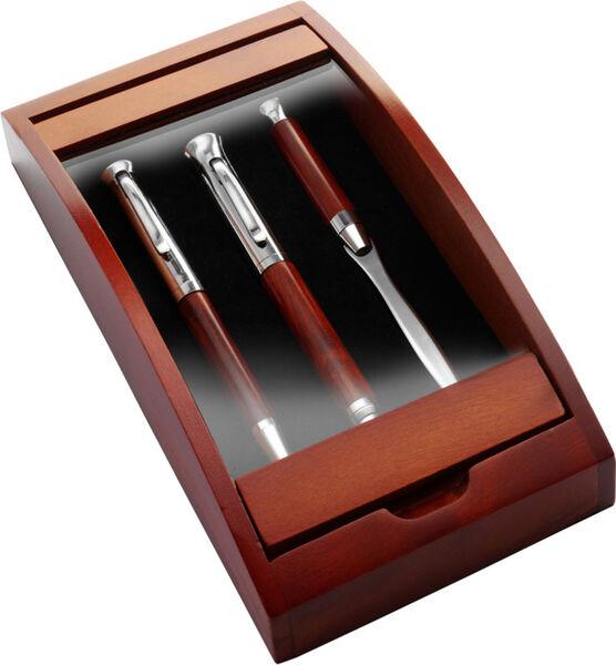Karbonfaser und Brief/öffner Set in Holz Box Kugelschreiber