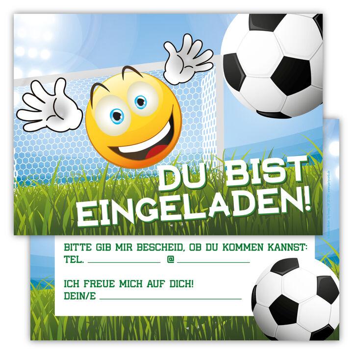 12 Fussball Einladungskarten Kindergeburtstag Jungen Madchen Party Fussball