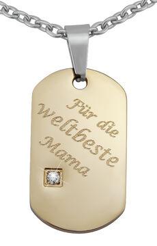 Hanessa Gravierte Halskette Gitarre Schwarz Gold Silber Wunsch Gravur Anhänger