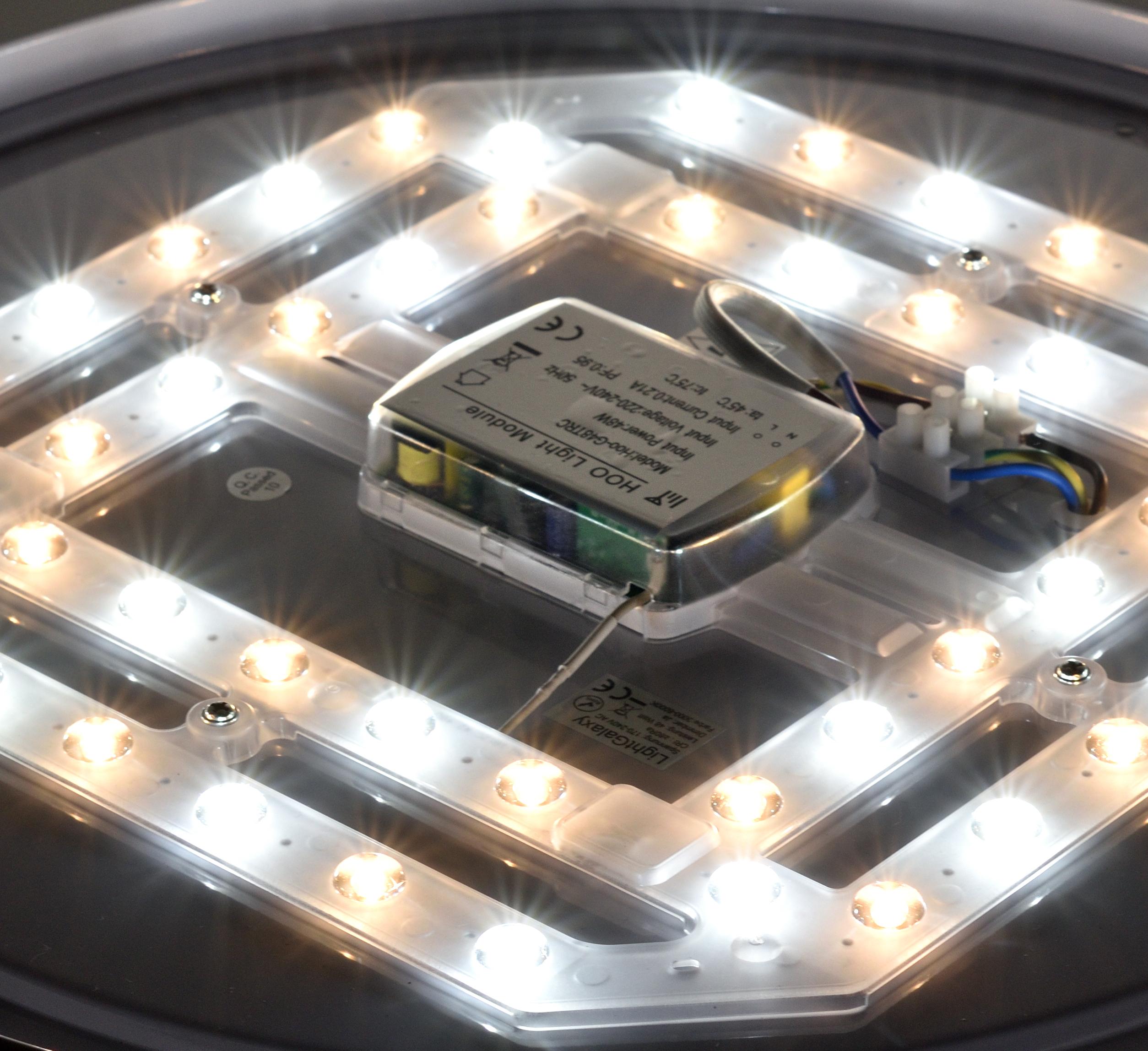 miniature 3 - Plafonnier LED Salon Chambre à Coucher Ciel Étoilé Télécommande 48W Dimmable