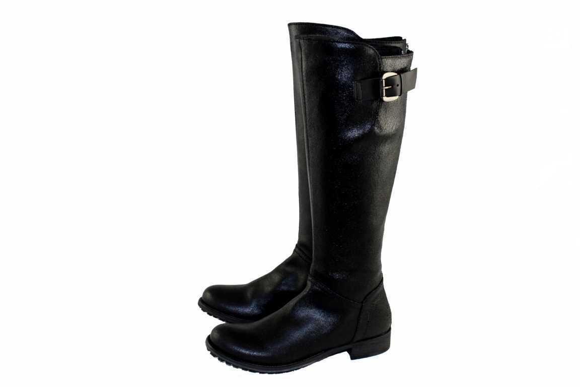 Zapatos señora zapatos Mally zapatos botas de cuero barco made in italy talla 38 4464 negro