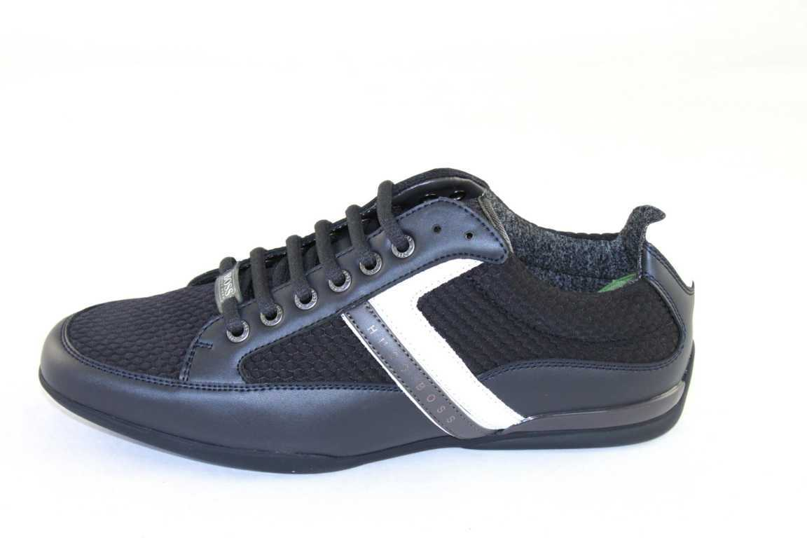 sale retailer 0e056 c345a Details zu Hugo Boss Green Schuhe Shoe Herrenschuhe Sneaker Gr.39-46 Space  10201619 01 blau