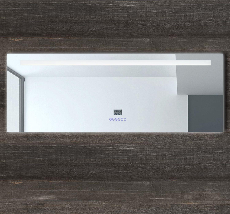 LED Multimedia Badspiegel mit Beleuchtung Lichtspiegel Touch Uhr ...