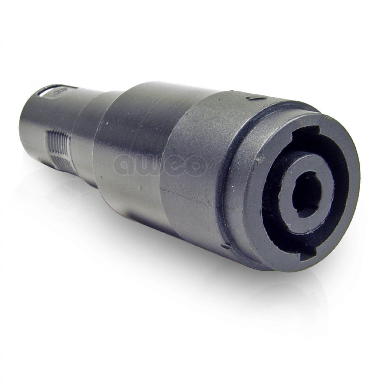 Lautsprecher-Adapter Speaker Buchse 4-polig auf XLR Stecker Speakon ...