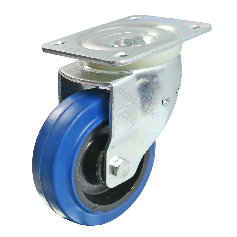 Blue Wheel Lenkrolle 100 mm Total Feststeller 160 kg Schwerlast Rolle Flightcase