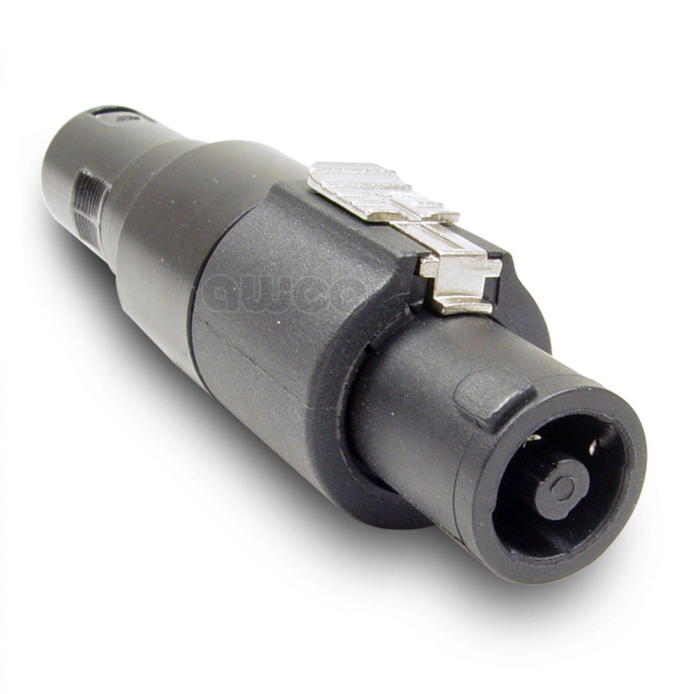 Lautsprecher-Adapter Speaker Stecker 4-polig auf XLR-Stecker Speakon ...