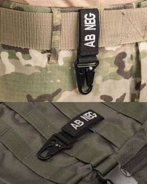 TACTICAL KEYHOLDER BLUTGRUPPE 0 POSITIV COYOTE MILITARY ARMY BW AIRSOFT OUTDOOR