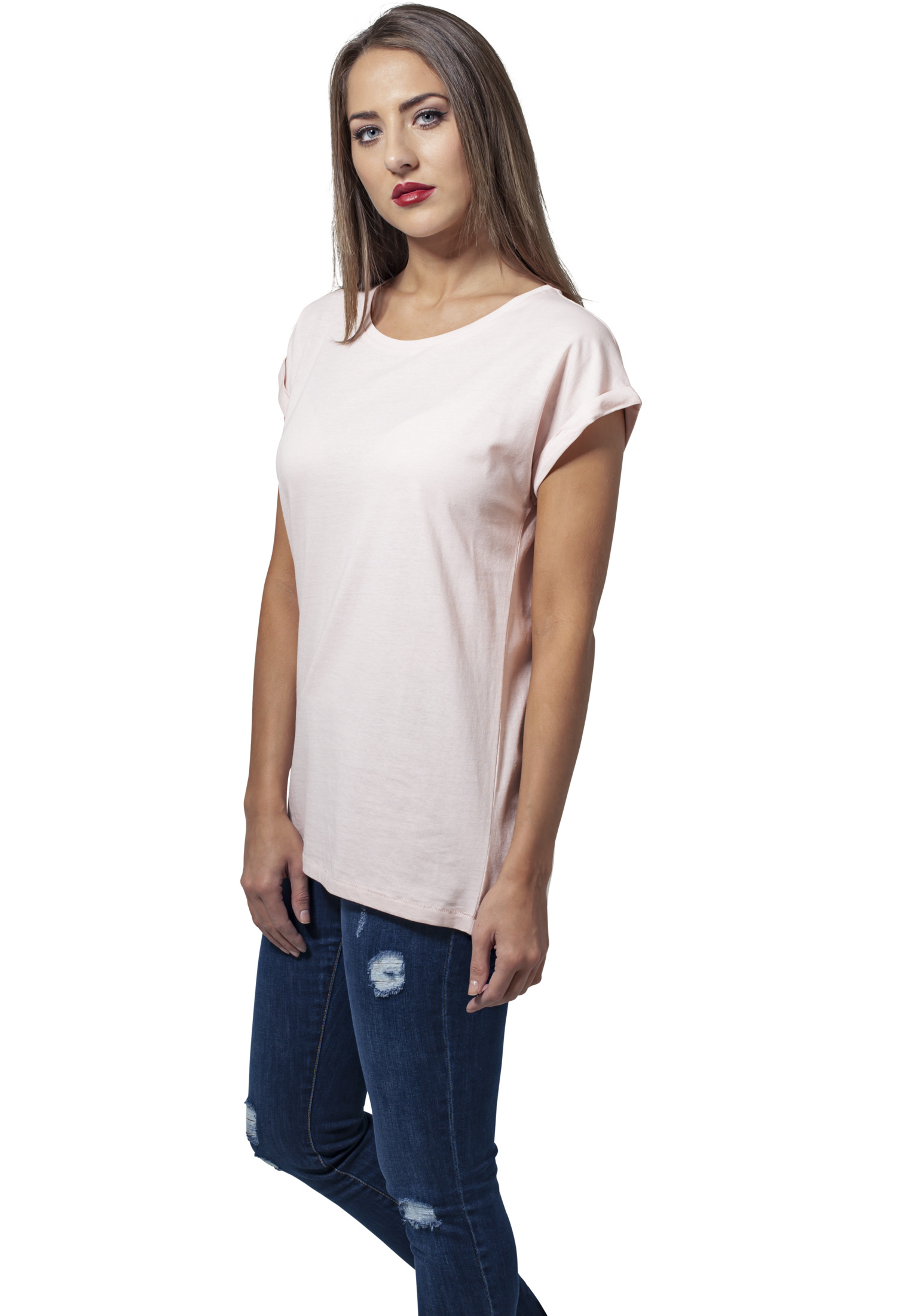 Urban Classics Ladies Extended Shoulder Tee Damen Top T-Shirt Rundhals Fashion