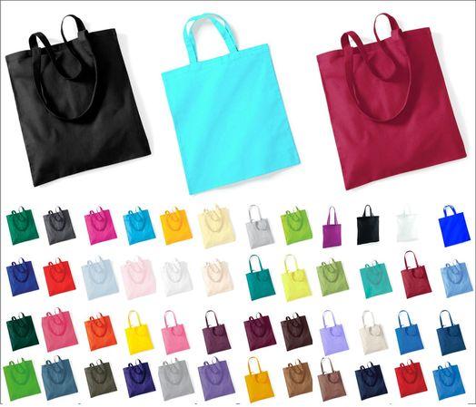 Baumwoll Tragetasche Einkaufstasche Shopper viele Farben