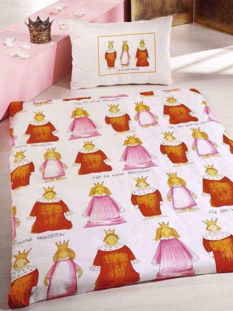 Bettwäsche 135x200cm Bettgarnitur Kleine Prinzessin Garnitur Bett