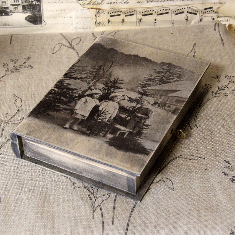 Vintage Buchsafe Landhaus Shabby Buchtresor Buch Holzkiste Hochzeit Handarbeit