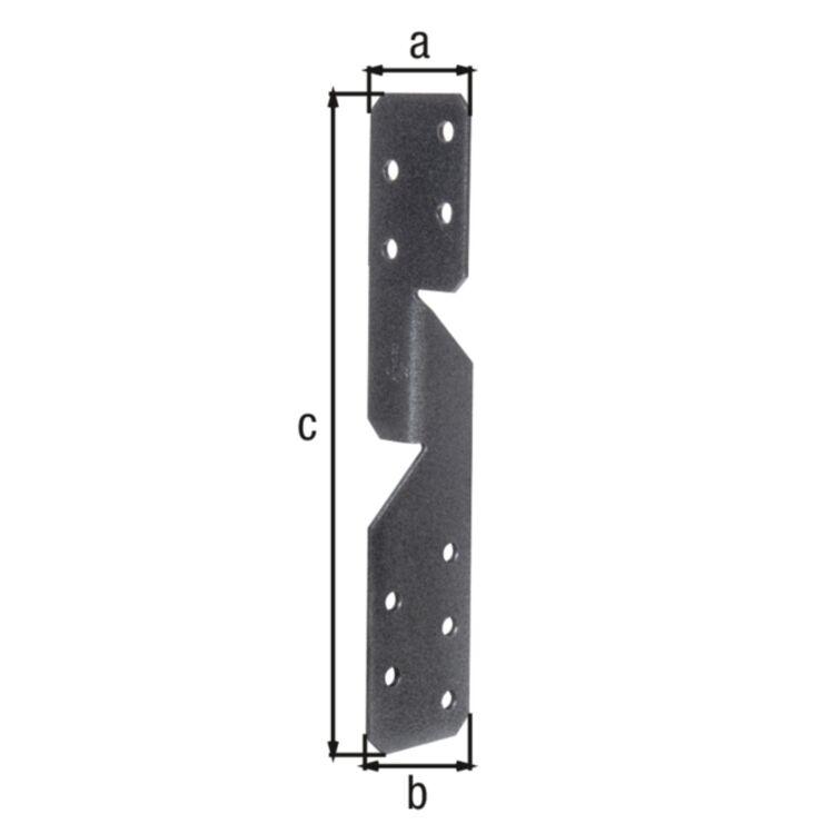 Sparren-Pfettenanker Holzverbinder schwarzdiamant Pfettenanker Sparrenanker