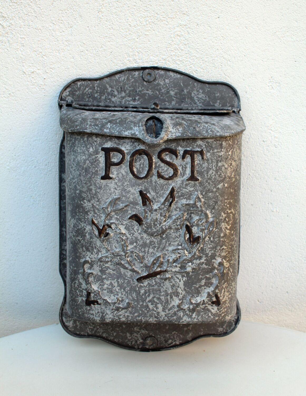 Briefkasten Nostalgie Zink Postkasten Shabby Vintage Türdeko Vogel Antikstil