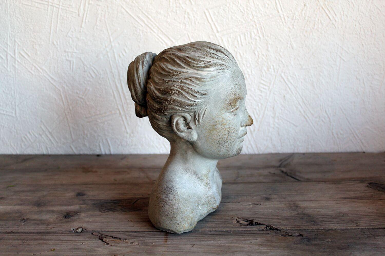 Kinderbüste Mädchen Gartenfigur Gartendeko Dekofigur Nostalgie Skulptur
