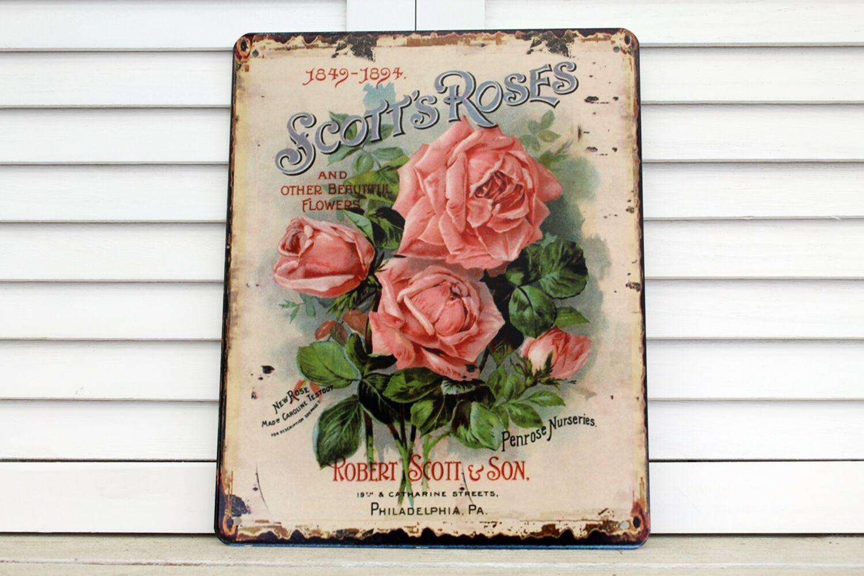 Blumenbouquet Traumhaft schönes Blechschild