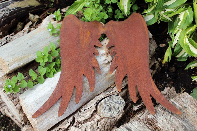 Edelrost poisson recht jardin décoration fer jardin