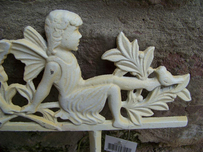 Beetstecker Elfen creme Shabby Gartendeko Gartenstecker Abgrenzung Feen