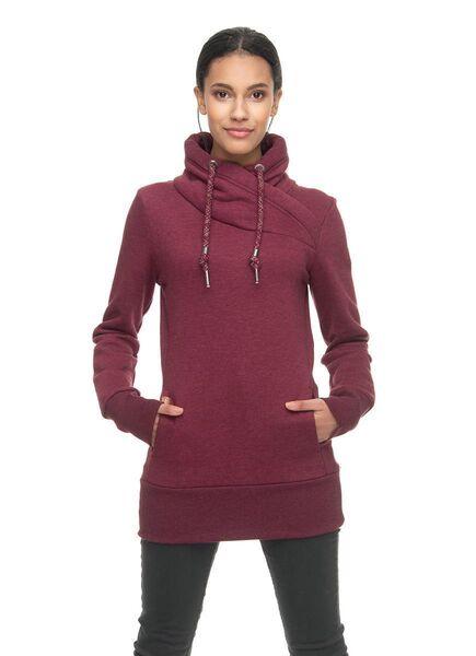 Details zu Ragwear Sweatshirt Damen Pullover ohne Kapuze NESKA wine red