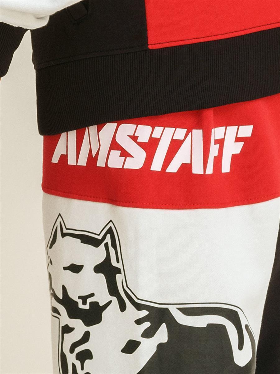Amstaff Jogginghose Sweat Pant ZAFIR Jogger Pitbull rot//schwarz//weiß