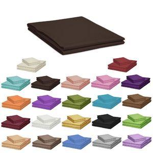 bettt cher 100 x 170 cm ohne gummizug 100 baumwolle bettlaken viele farben ebay. Black Bedroom Furniture Sets. Home Design Ideas