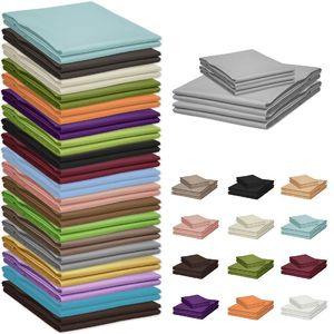 bettt cher 150 x 240 cm ohne gummizug 100 baumwolle bettlaken viele farben ebay. Black Bedroom Furniture Sets. Home Design Ideas