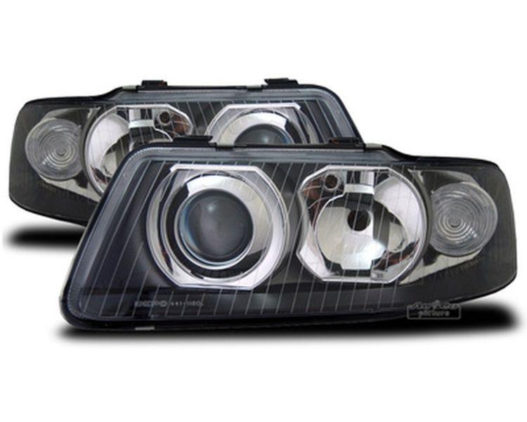 scheinwerfer set f r audi a3 8l facelift in schwarz links. Black Bedroom Furniture Sets. Home Design Ideas