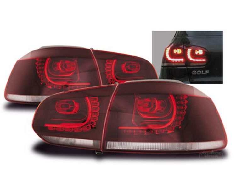 led r ckleuchten set passend f r vw golf 6 vi gti r look. Black Bedroom Furniture Sets. Home Design Ideas