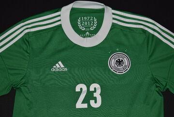 Details zu Adidas Deutschland Trikot Jersey DFB EM 2012 12 Shirt Maglia Camiseta Grün Gomez