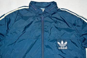 Details zu Adidas Regen Jacke Windbreaker Vintage 80s Rain Jacket Coat Glanz Blau Nylon 44