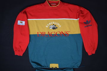 4c2140e7f Adidas Barcelona Dragons Trainings Anzug Sport Suit Track Pant Vintage  Football M