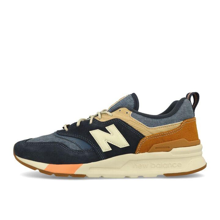 Details zu New Balance CM 997 HAK Navy Workwear Brown Herren Schuhe Sneaker  Blau Braun