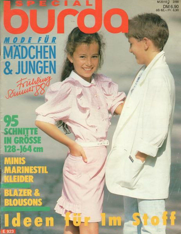 details zu burda special nr. 02/1988 mode für mädchen und jungen  frühling-sommer 88