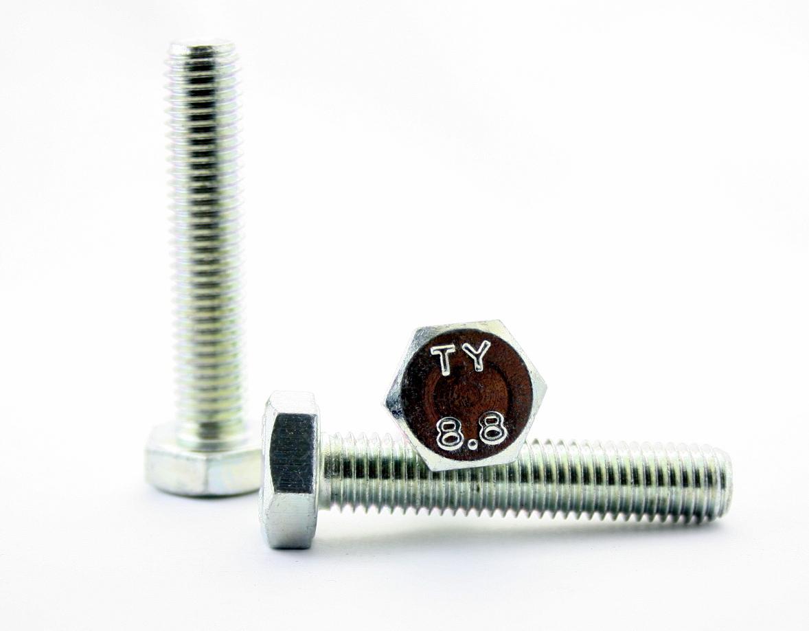Sechskantschrauben-DIN-933-verzinkt-Aussensechskant-Gewindeschrauben-Vollgewinde