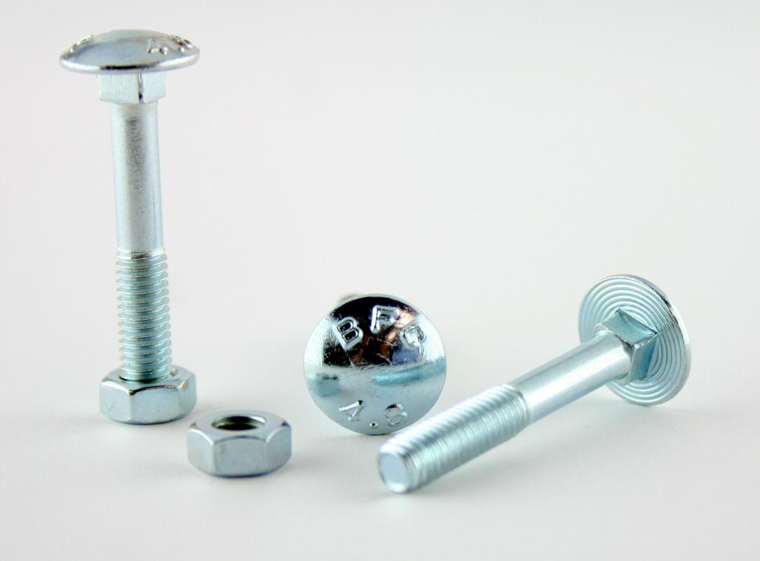 Schlossschrauben-DIN-603-Flachrundschrauben-m-Sechskantmutter-Vierkant-verzinkt