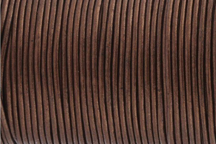 Ziegen-Lederriemen Lederband Lederschnur Vintage Rose ø2mm weich formbeständig