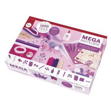 weiß//pink//lila Töne Box Mega-Bastelbox Unicorn 1.000 Teile