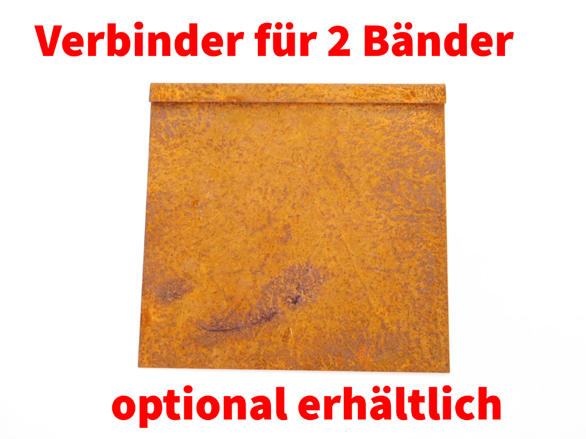 miniatuur 13 - IRKA Rasenkantenband Rasenkante Corten Stahl 15, 20 oder 25 cm hoch 1mm stark