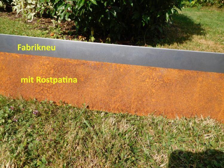 ZINK 10er Set Rasenkanten Metall schmal 14 cm hoch ALU