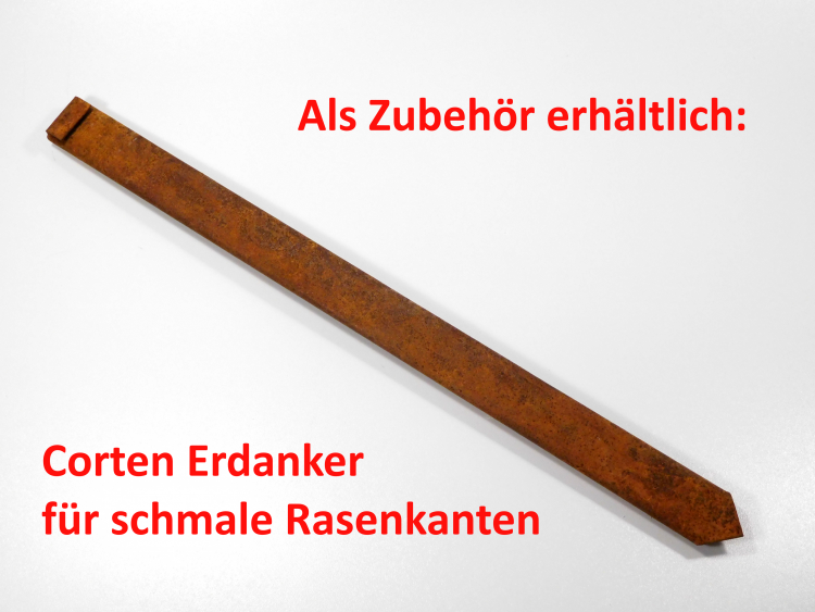 Bellissa Rasenkante 10m Corten Stahl Edelrost Beeteinfassung Mähkante Begrenzung