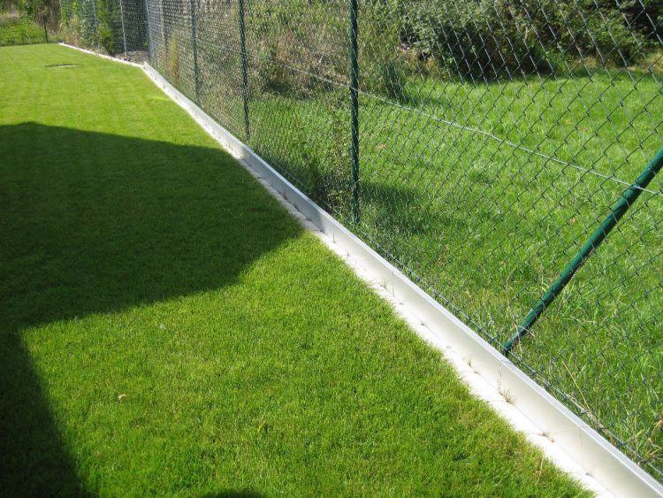20x broad metal lawn edging border edge alu with double antirust 14 cm high 768240433117 ebay. Black Bedroom Furniture Sets. Home Design Ideas