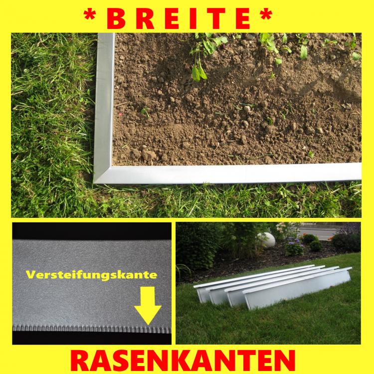 Rasenkanten Rasenkantenband Beeteinfassung Erdanker in ALu Zink