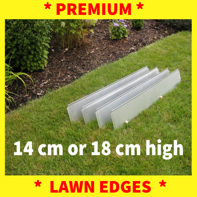 Lawn Edging Narrow With Double Antirust Metal Garden Border Edges   Bild 1