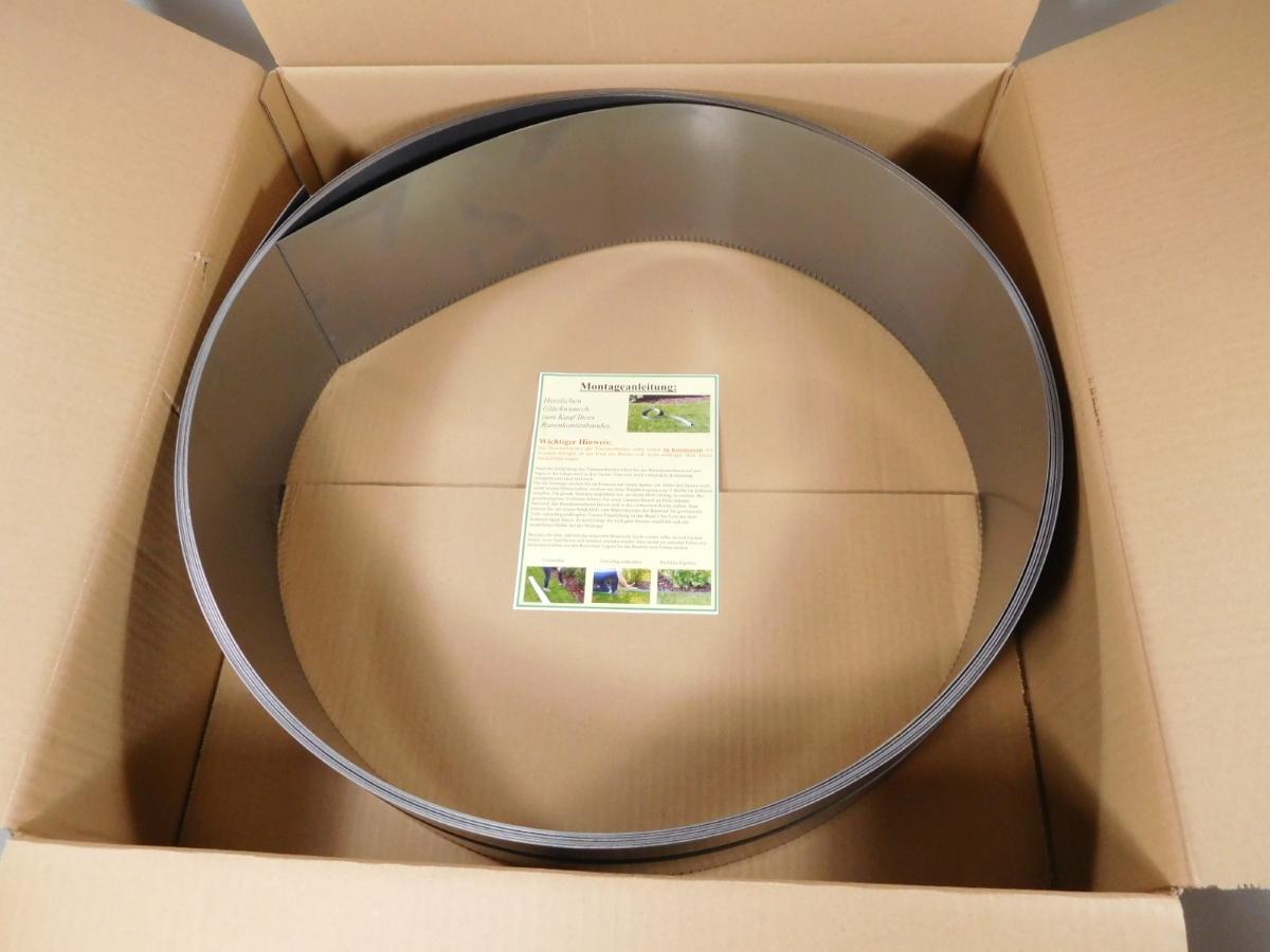 miniatuur 11 - IRKA Rasenkantenband Rasenkante Corten Stahl 15, 20 oder 25 cm hoch 1mm stark